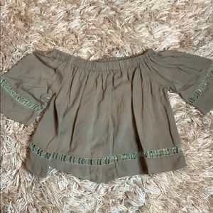 Army green crop top!